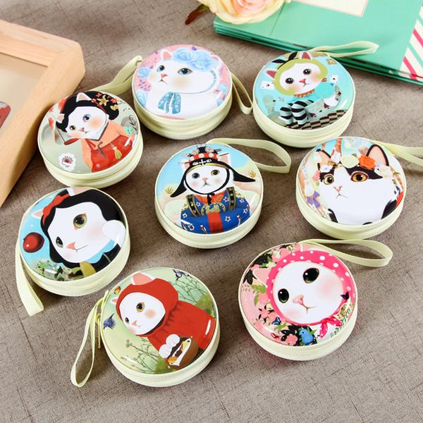 Sevimli Karikatür Mini Cüzdan çanta Kadın Sikke çanta Kedi güzel Hayvanlar Teneke metal alaşım Fermuar Sikke çanta Kızlar Için Chrismas Hediye