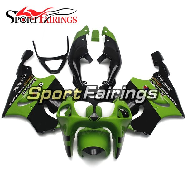 Fairings For Kawasaki ZX-7R ZX7R 96 97 98 99 00 01 02 03 1996 - 2003 ABS Motorcycle Fairing Kit Bodywork Motorbike Cowlings Green Black
