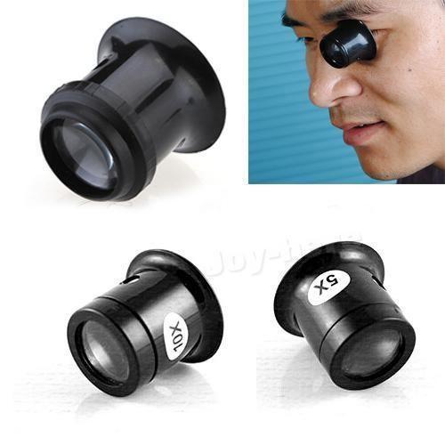 Wholesale-A11 1Pc 5x Watch Jewellery Magnifier Loupe Eye Len Eyepiece Repair Kit Tool IB077