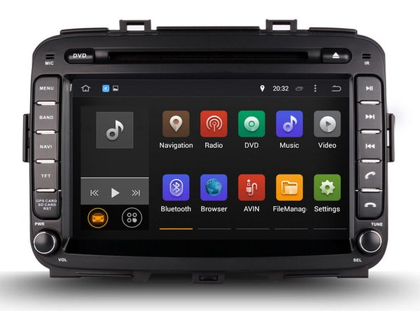 Android 7.1 Car DVD Player GPS Navigation for Kia Carens 2013 2014 2015 with Radio BT USB SD Audio Video 4Core 1024*600