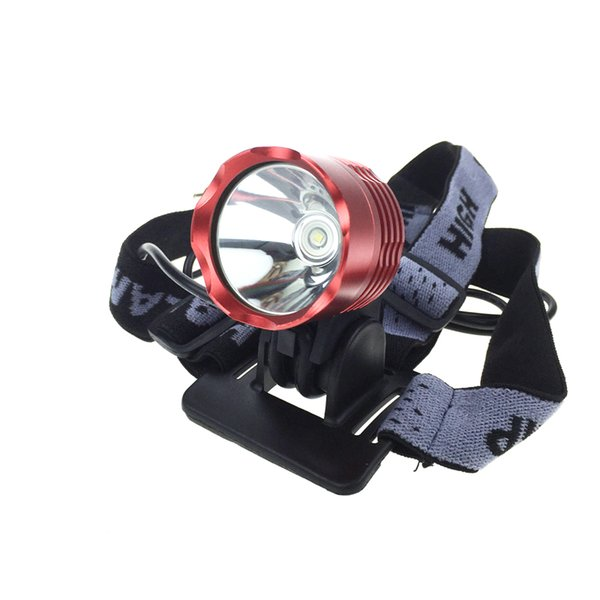 [2 Batteries included]T6 Bicycle Light 2000 Lumens 3 Mode Waterproof Bike Front Light LED HeadLamp With 6400mAh Battery Pack