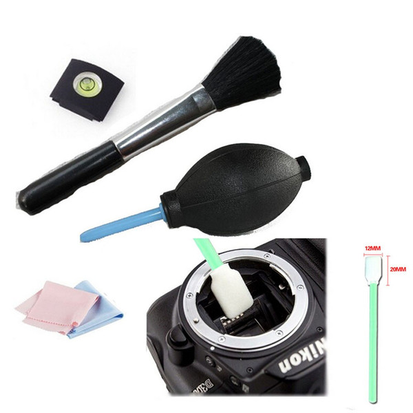 Wholesale- 5 in 1 hot shoe spirit brush cleaning kit cleaning pen camera Pen / lens cloth Cleaning Kit