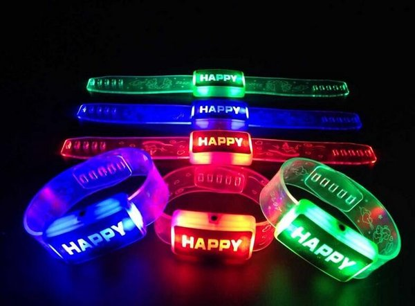 2017 Luminous Hand Ring Roller Skate Light Hand Watch Lights Night Bracelet Flash Bracelet Wrist Strap Festive party dress