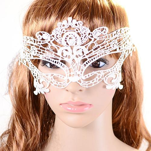 Wholesale- 2015 Hot Sale sell 1Pcs Halloween Masquerade Sexy Lady Lace Mask for Party