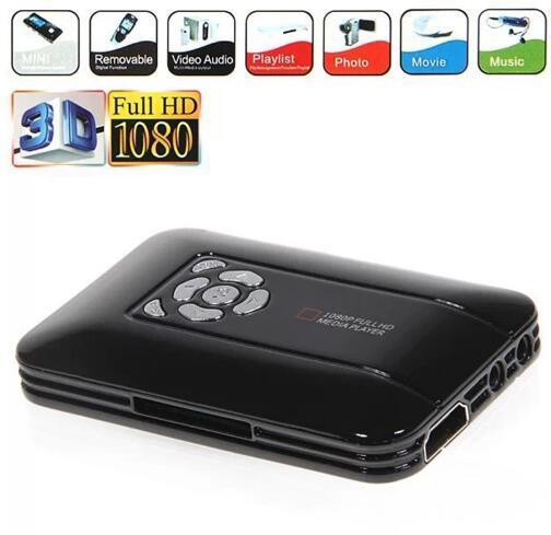 New K5+ Full HD Media Center 1080p Multimedia Mini Portable Media Player USB Host for external HDD Free Shipping