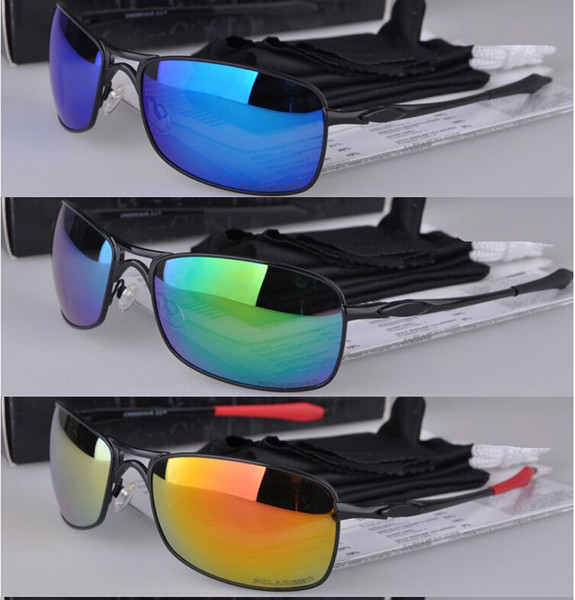 Nuevo 4044 Moda para hombre Gafas de metal Gafas de sol Lente de espejo polarizado Gafas de sol Deportes al aire libre Sunglass de bicicleta