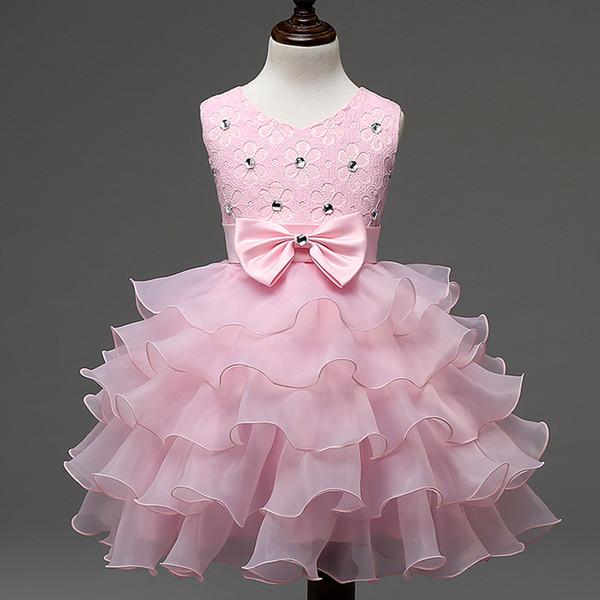 Baby Kleider Mädchen Kinder Abend Prom Brautkleid Little Girls Party Kleider Erster Geburtstag Outfits Kinder Mädchen Veranstaltungen tragen