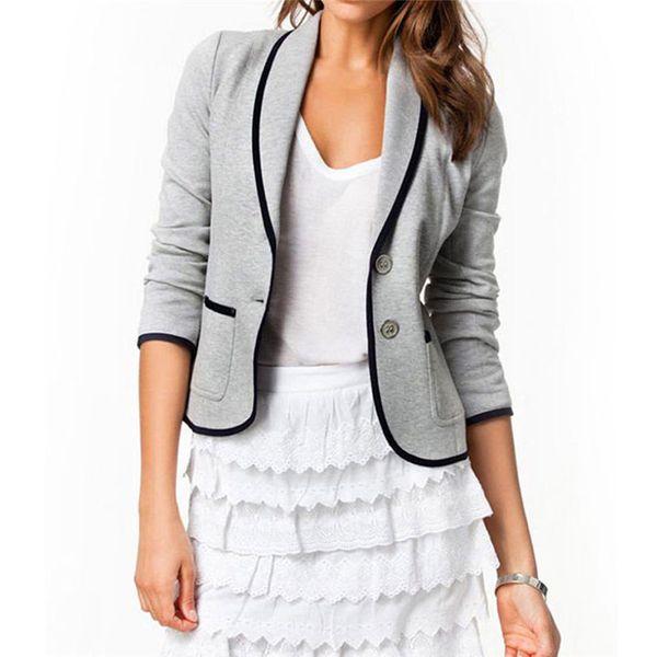 Women's Coats New Coats Fashion Long-Sleeve OL Jackets For Girls Coat Slim Solid Cloth Women's Plus Size Jacket Women Autumn