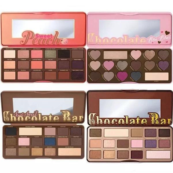 best selling HOT Makeup Chocolate Bar Eyeshadow semi-sweet Sweet Peach Bon Bons Palette 16 Color Eye Shadow plates +gift