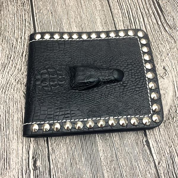Модные европейские и американские ретро крокодил полосатый короткий бумажник личности моды мужская кросс талреп портативный бумажник