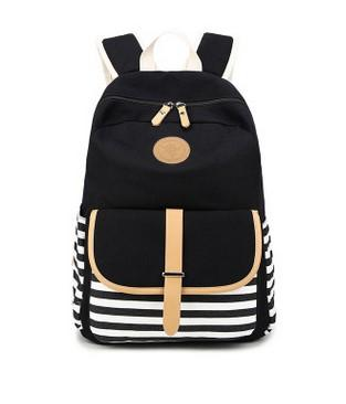 top popular 2016 Limited School Bags Navy Stripes Backpack, The New Canvas Bag, Students Backpack Bag. High Quality Fabric. Super Practical Large Space. 2020