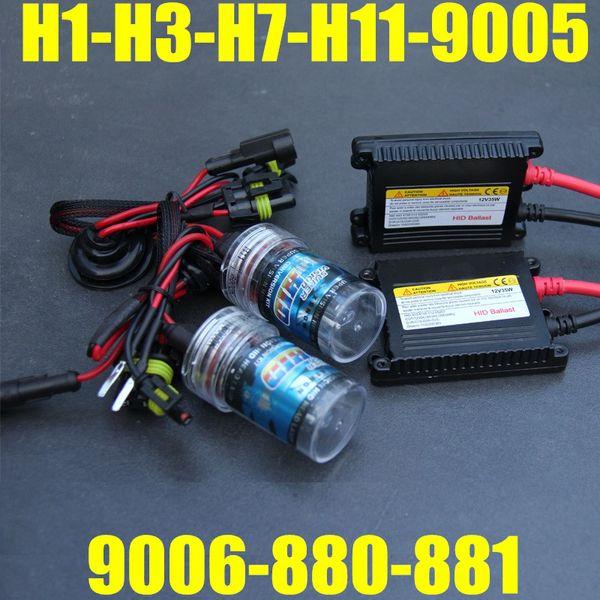 best selling DC 12V 35W HID LIGHT 12v For Headlight Conversion H1 H3 H4 H L H7 H9 H10 H11 9005 9006 4300k 6000k 8000K HID LIGHT XENON LAMP