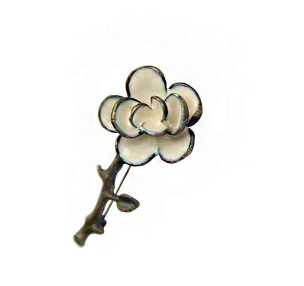 New Fashion women Brooch Flower Lapel Pin alloy material Button Stick Flower Brooches For Wedding and promotion gift
