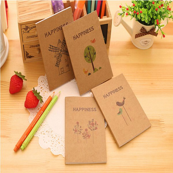 Wholesale- Fresh Style Tree And Birds Mini Notebook Diary Pocket Notepad Graffiti Book Promotional Gift Stationery 7.40