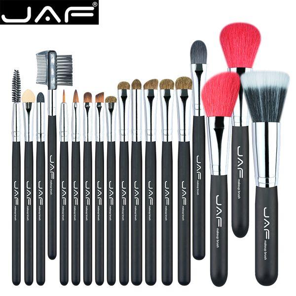 18 Pcs Make Up Brush Set Natural Super Soft Red Goat Hair & Pony Horse Hair Studio Beauty Artist Makeup Brushes J1813AY-B