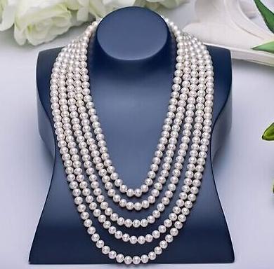Collier de perles de mer du Sud rondes 9-10mm, fermoir en or 14K de 48 pouces