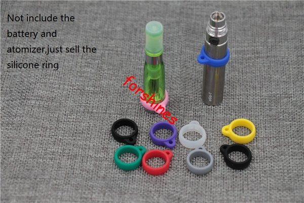 100pcs/lot epacket free shipping to USA ego decorative ring black e cigarette new Silicone silica gel ego mt4 evod mt3 atomizer rubber rings