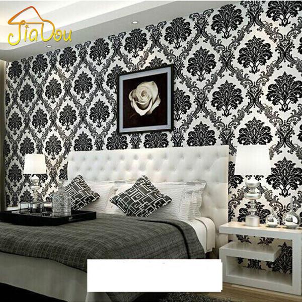 Lüks Avrupa Tarzı Şam Duvar Kağıdı Duvarlar Için Rulo 3D Çiçek Kabartmalı Dokulu dokunmamış Akın Duvar Kağıdı Oturma Odası Için