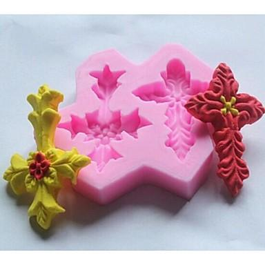 Double-cross Leaves Shaped Fondant Mold,Resin Clay Chocolate Candy Silicone Cake Mould,Fondant Cake Decorating Tools wholesaleTY1900
