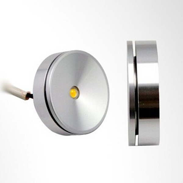 AC85-265V 3W warm cold white mini size 38mm Dimmable LED cabinet light puck lamp kitchen display counter showcase spot lamp