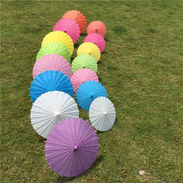 Diamter 84cm/33 Inches Chinese Craft Bamboo Oiled Paper Umbrella Wedding Supplies DIY Painting Paper Parasol