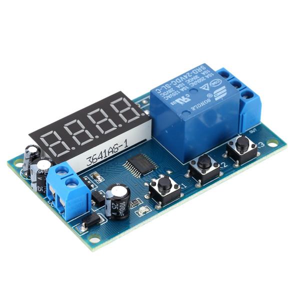 Temporizador de tiempo de retardo multifunción Módulo de relé Interruptor de temporización Temporizador de ciclo de control DC 12V Pantalla LED Relé / retardo de tiempo de control inteligente