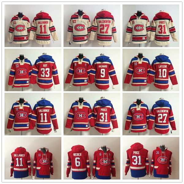 Montreal Canadiens Hoodies 6 Shea Weber 31 Carey Fiyat PATRY ROY 11 Brendan Gallagher 67 Max Pacioretty Alex Galchenyuk Hoody Sweatshirtler