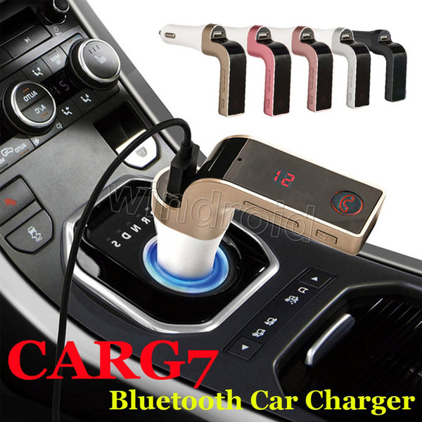 Cheapest 200pcs CAR G7 Bluetooth FM Transmitter MP3 With TF/USB flash drives Music Player SD and USB Charger Features colorful + Retail box