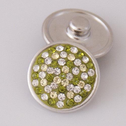 Vente chaude KB2405-AS Taches Colorées Strass 18MM Snap Boutons pour DIY Gingembre Snap Bracelets Accessoires Charme bijoux