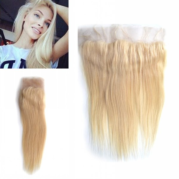 Brazilian Straight Lace Frontal Closure Cheap Virgin 613# Human Hair Ear to Ear Lace Frontals LaurieJ Hair