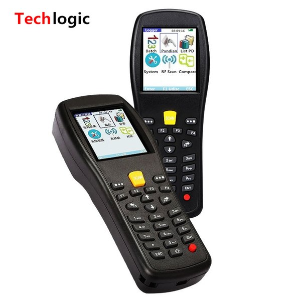 best selling Wholesale- Techlogic X3 Wireless Barcode Scanner Inventory Bar Code Scanner Handheld Terminal PDA Laser Barcode Reader Bar Code Gun
