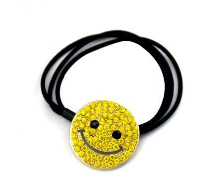 Fashion Smile Face Elastic Hair Bands For Women Girls Ponytail Cute Hair Tie Headwear Hair Accessories