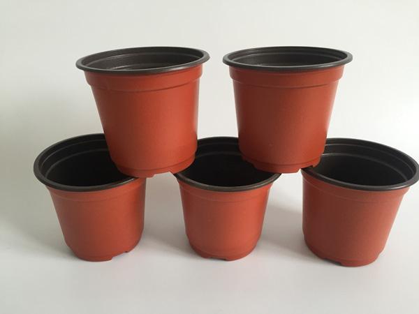 100PCS/LOT D10XH9CM double color plastic pots caliber corrosion resistance postoral plastic flower pots plastic Garden Pots