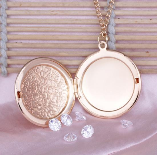 Unique Special Open Book Box Photo Locket Pendant Necklace Chain for Gifts Silver Plated Jewelry for Women