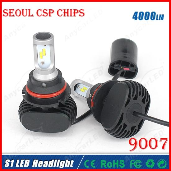 2016 NEW 1 Set S1 9007 HB5 40W 8000LM LED Headlight System Kit Seoul CSP Chip 24SMD High/Low Dual Beam Driving Headlamp Bulb Replac HID Halo