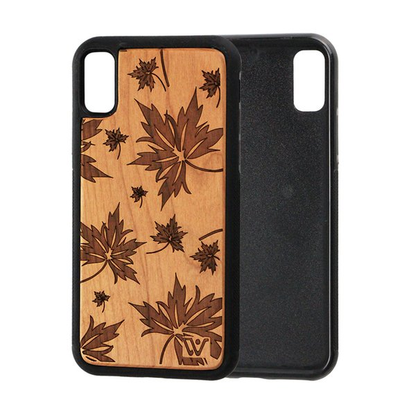 U&I Eco-friendly Wooden Carved Cover for iPhone X Engraving Custom Design Real Rosewood Wood Phone Case With Animal
