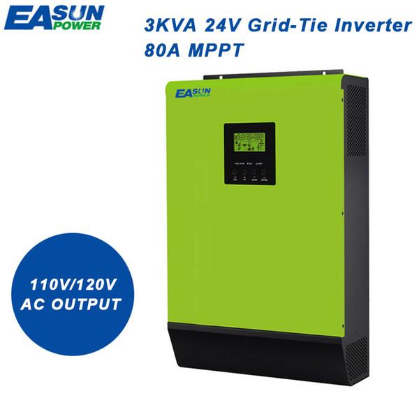 Easun Power 110v Grid Tie Inverter 2400w 24v Solar