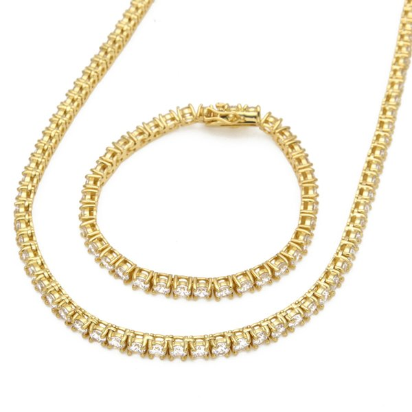 18''gold necklace+8''bracelet