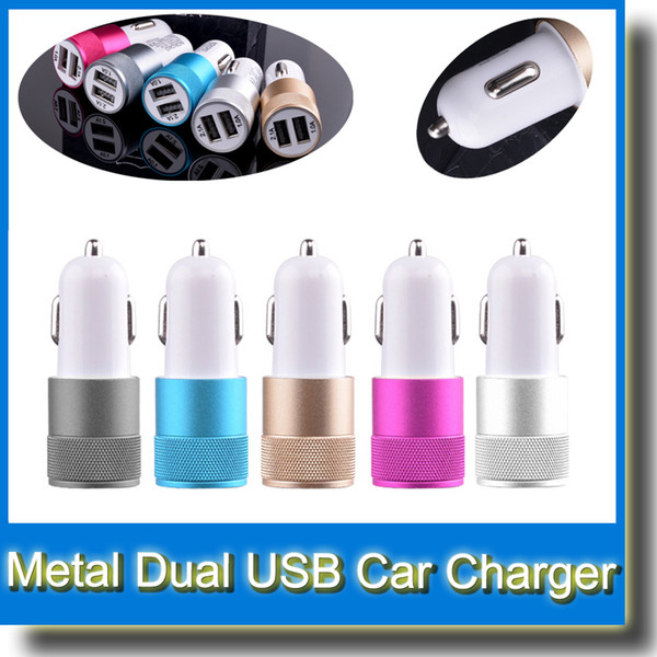 Metal Dual USB Port Car Charger Universal 2 Amp for Apple iPhone iPad iPod Samsung Galaxy Motorola Droid Nokia Htc Best