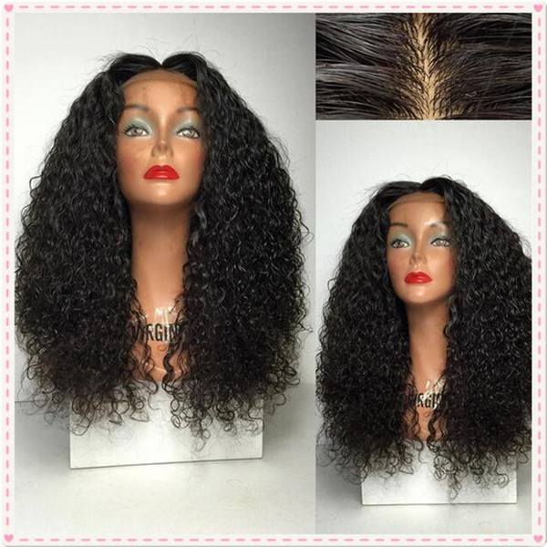 Brazilian Hair Silk Base Full Lace Wig Middle Parting Human Hair Wigs Deep Wavy Glueless Silk Top Wigs Bleached Knots 130% Density