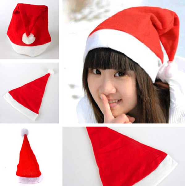 top popular New Christmas Santa Hats Red And White Cap Party Hats For Santa Costume Christmas Decoration for kids adult Christmas Hat IC718 2019