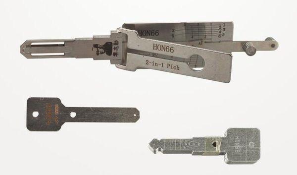 FREE SHIPPING LISHI HON66 2-in-1 Auto Pick and Decoder For Honda locksmith lock pick tool auto pick