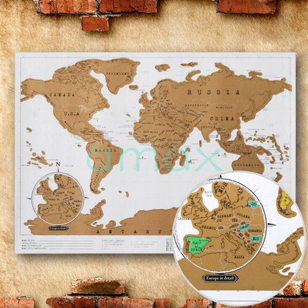 Deluxe scratch map scratch world map 8852cm dhl fedex free travel deluxe scratch map scratch world map 8852cm dhl fedex free travel scratch gift business gumiabroncs Image collections