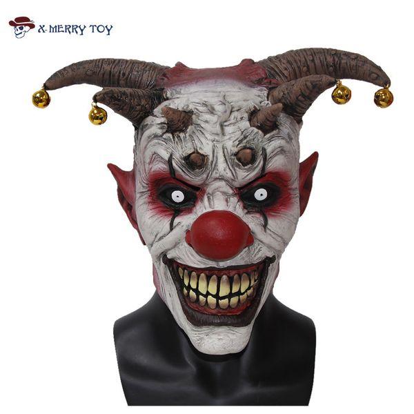 X -Merry Toy Jingle Jangle The Clown Horror Latex Halloween Scary Head Mask Free Shipping X12048