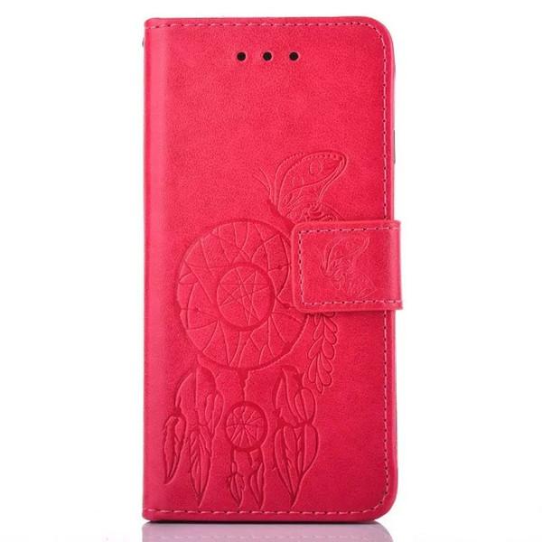 Custodia a portafoglio in pelle flip portafoglio per Samsung Galaxy S6 EDGE S5 J710 J510 G530 Carta d'identità G360 supporto monetario TPU Dream catcher Custodia a farfalla