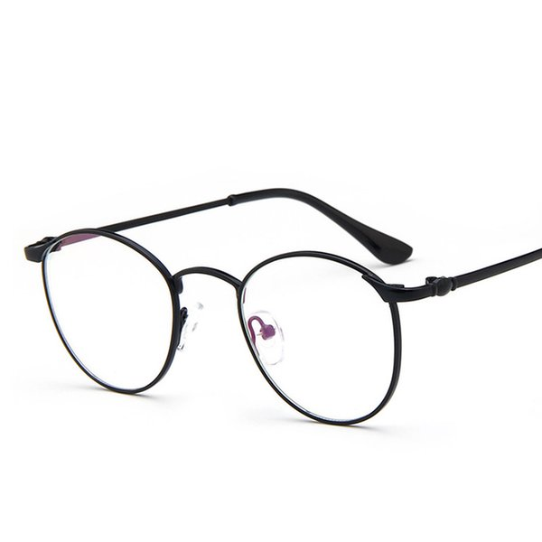Wholesale- Spectacle Men Of Transparent Glasses Acetate And Vintage Eyeglasses Frame Round Full-Rim kly2987