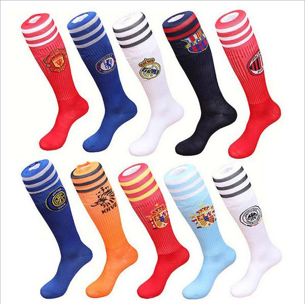 Meninos meninas tarja longas meias de futebol 13 projeto NOVO livre DHL Crianças dos desenhos animados de algodão Meias meias esportivas do bebê 12-16 anos B001