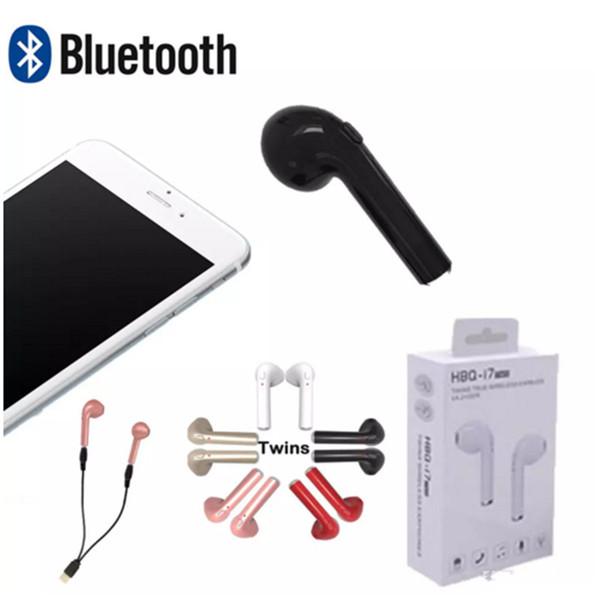 HBQ i7 Mini Bluetooth Twins Kopfhörer TWS Wireless 4.2 Freisprecheinrichtung Kopfhörer Invisible Headset mit Mic Stereo Ohrhörer für iPhone Samsung