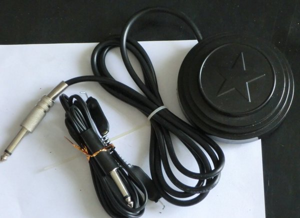 Black Star Tattoo Foot Pedal Switch With Tattoo Clip Cord for Tattoo Power Supply