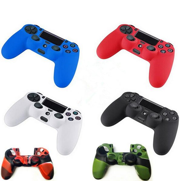 top popular Many colors Soft Silicone Gel Rubber Case Skin Grip Cover For SONY Playstation 4 PS4 CMicrosoft Xbox One Xbox 360 Wireless Controller 2019